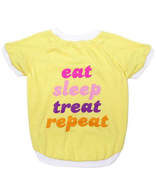 Pets First Pet Tee - Eat Sleep Treat Repeat Large