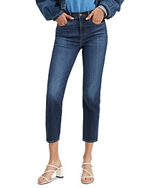 724 High Rise Cropped Slim Fit Jeans