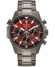 Men's Chronograph Marine Star Gray Stainless Steel Bracelet Watch 43mm