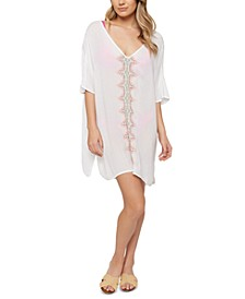 Juniors' Francis Embroidered Cover-Up Dress