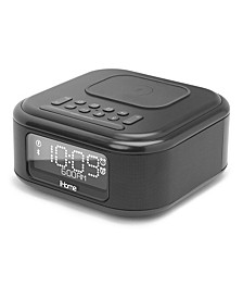 Wireless Charging Bluetooth Dual Alarm Clock with USB Charging