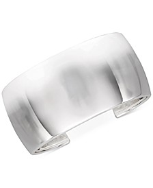 Polished Wide Cuff Bracelet in Sterling Silver, Created for Macy's