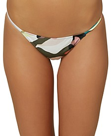 Juniors' Calla Printed Hipster Bikini Bottoms