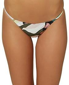 Juniors' Calla Printed Hipster Bikini Bottoms
