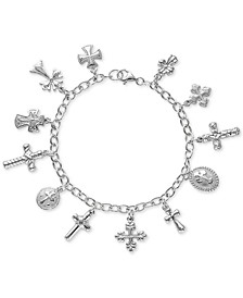 Multiple Cross Charm Bracelet in Sterling Silver, Created For Macy's