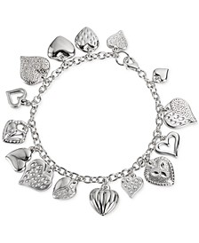 Multiple Heart Charm Bracelet in Sterling Silver, Created for Macy's