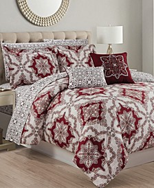 Ashland 9-Piece Printed Reversible Queen Comforter Set