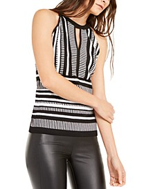 INC Striped Keyhole Sweater, Created For Macy's
