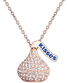 "Crystal Hershey's Kisses 18"" Pendant Necklace"