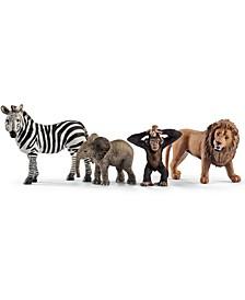 Wild Life Wild Life Figure Starter Set Zebra, Lion, Monkey, Elephant