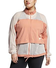 Plus Size Sportswear Mesh Jacket