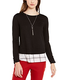 Juniors' Layered-Look Necklace Top