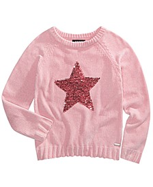 Big Girls Sequin Star Chenille Sweater