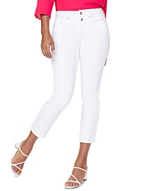 Marilyn Straight-Leg Buttoned Mock-Fly Ankle Jeans