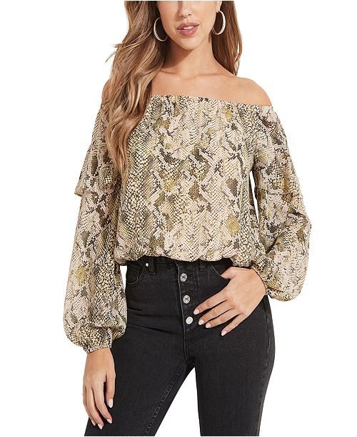 GUESS Kanelyn Off-The-Shoulder Top