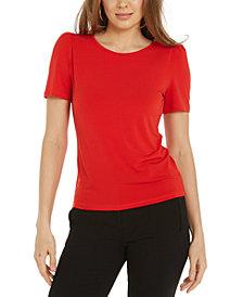 Bar III Puff-Sleeve T-Shirt, Created for Macy's