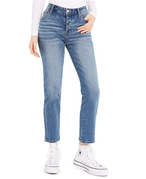 Celebrity Pink Juniors' Straight-Leg Ankle Jeans