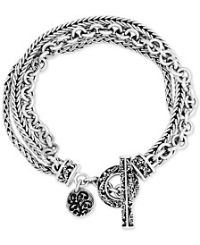 Multi-Chain Toggle Bracelet in Sterling Silver