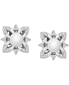 Diamond Flower Earring Jackets (1/10 ct. t.w.) in 14k White Gold