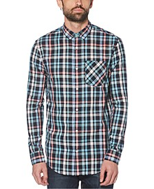 Men's Slim-Fit Plaid Shirt
