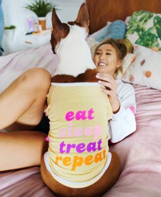 Pet Tee - Eat Sleep Treat Repeat Large