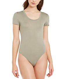 Scoop-Neck Thong Bodysuit