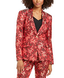 INC Jacquard One-Button Blazer, Created for Macy's