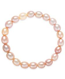 Cultured Multi-Pink Freshwater Pearl (7mm) Stretch Bracelet
