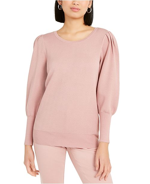 Alfani Puff-Sleeve Sweater, Created for Macy's