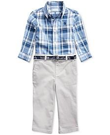Baby Boys Button-Down Shirt & Pants Set