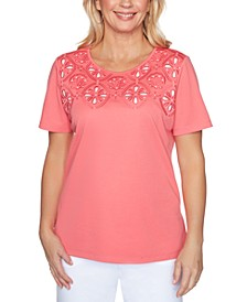 Miami Beach Cut-Out Embroidered Top