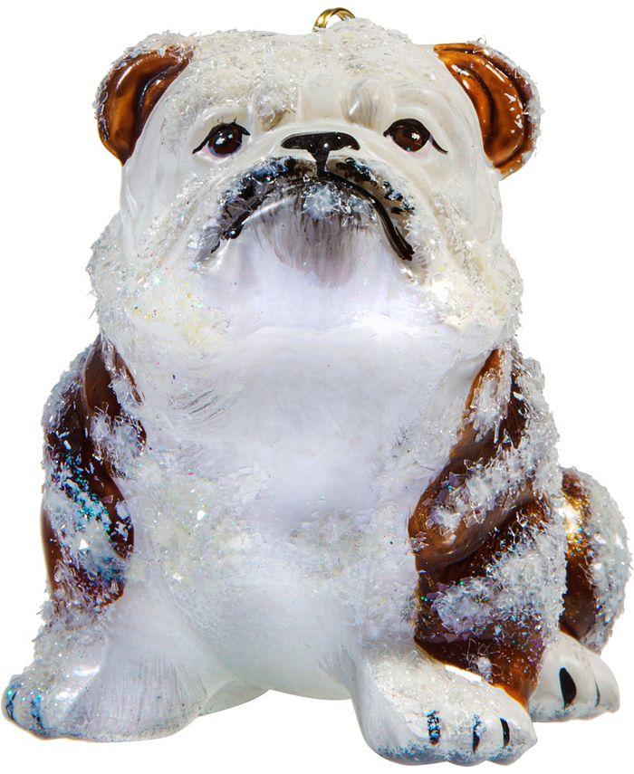 Joy to the World - Bulldog Brown & White Snowy