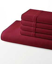 Jersey Knit Solid Twin Sheet Set