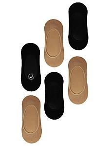 Women's 6 Pack Basic Sock Liner, Online Only