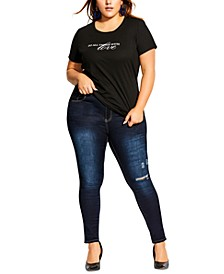 Trendy Plus Size With Love T-Shirt