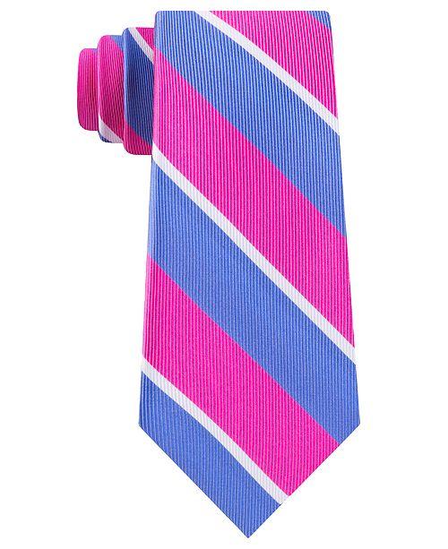 Tommy Hilfiger Men's Bright Medium Stripe Tie