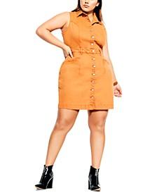 Trendy Plus Size Biker Attitude Dress