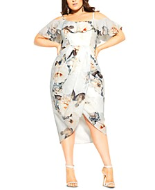 Trendy Plus Size English Garden Dress