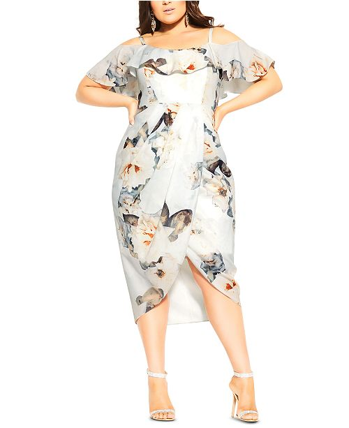 City Chic Trendy Plus Size English Garden Dress