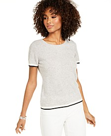 Cashmere Tipped Pullover Sweater, Created For Macy's