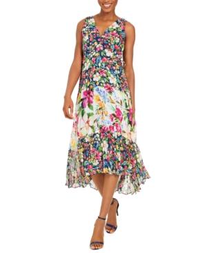 Taylor Floral Chiffon Midi Dress