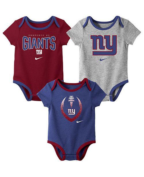 Nike Baby New York Giants Icon 3 Pack Bodysuit Set