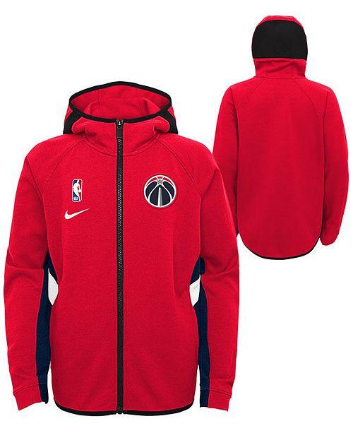 Nike Big Boys Washington Wizards Showtime Hooded Jacket