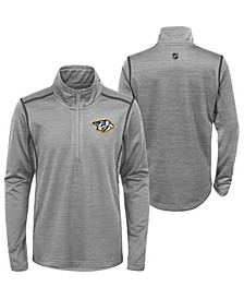 Big Boys Nashville Predators Benchmark Quarter-Zip Top