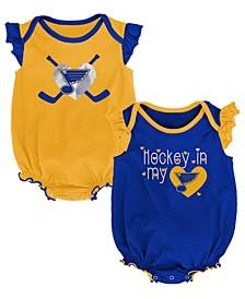 Baby St. Louis Blues Team Player 2 Pack Bodysuit Set