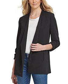 DKNY Foundation Open-Front Jacket