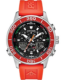 Eco-Drive Men's Promaster Sailhawk Analog-Digital Orange Polyurethane Strap Watch 44mm