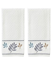 Pencil Leaves 2-Pc. Hand Towel Set