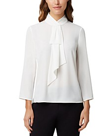 Faux-Neck-Tie Blouse