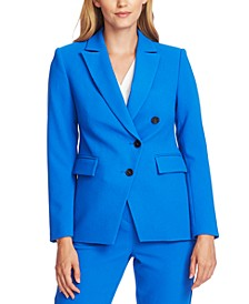 Asymmetrical Notched-Lapel Blazer
